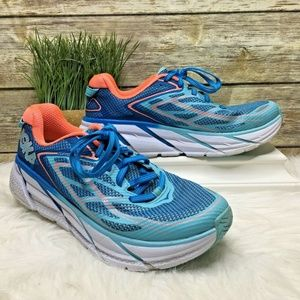 Hoka One One Clifton 3 Teal Blue Running Sneakers